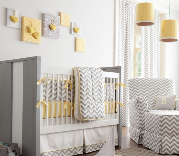patterns retro nursery e1348356459935 Dressing Up your Babys Nursery with Retro Modern Style