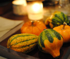 Fancy pumpkins and gourds home decor