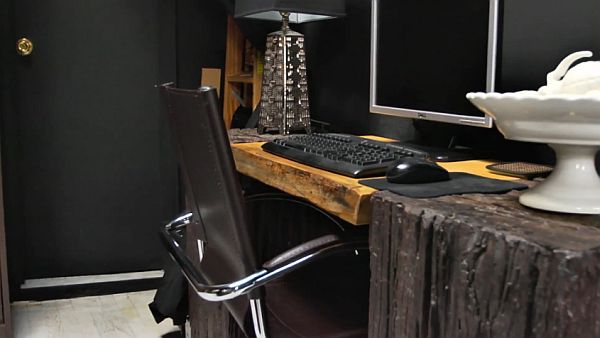 Cool Desks For Home Office Inside Bill Indurskyu0027s Black Studio Apartment