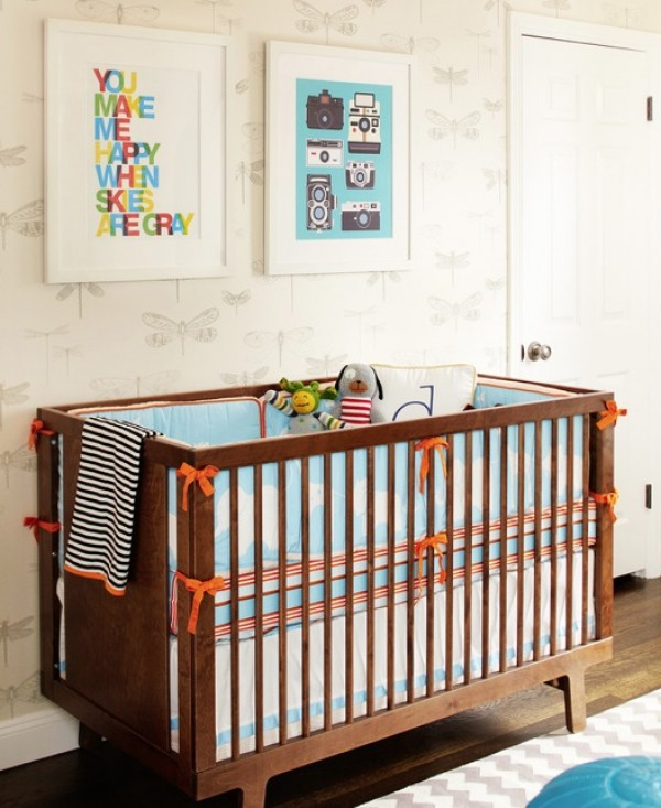 retro nursery wall art