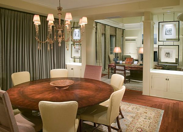 23 unique dining room table designs for Small dining room ideas with round tables
