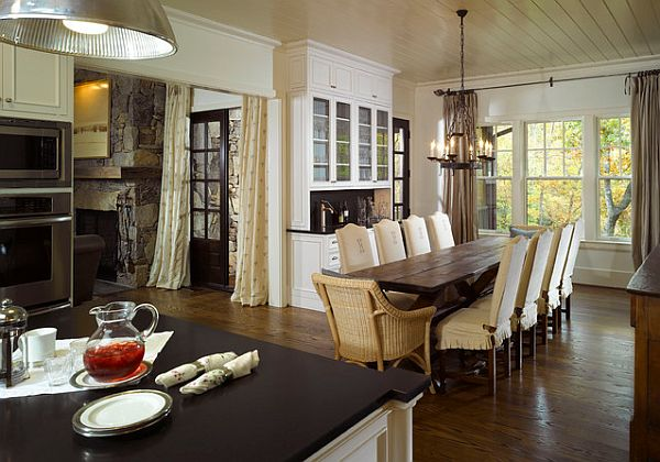 rustic rectangular dining table 23 Unique Dining Room Table Designs