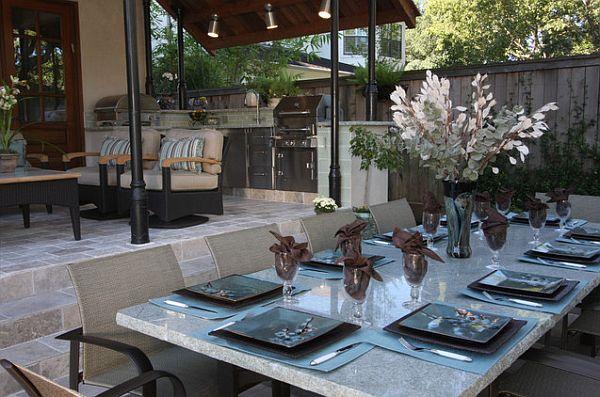 stylish outdoor table setup