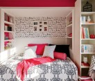 teenage girls room updated shelving