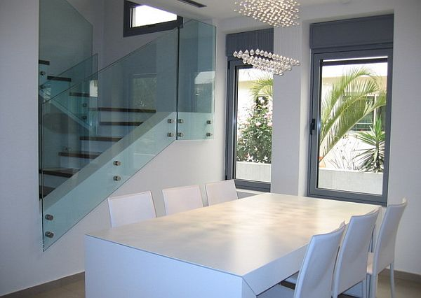 View In Gallery White Modern Minimalist Dining ...