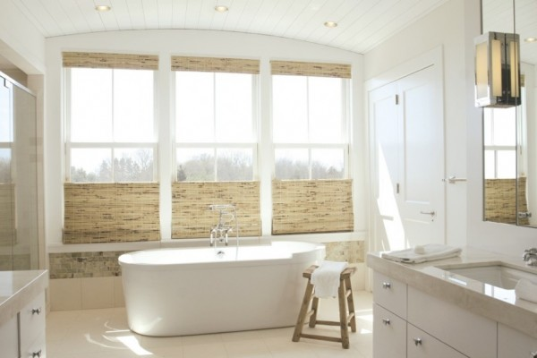 How to decide the best window treatments for your fall home for Blinds bathroom window