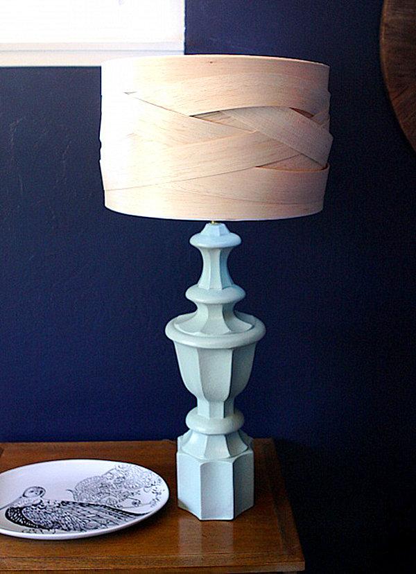 A DIY balsa wood lampshade