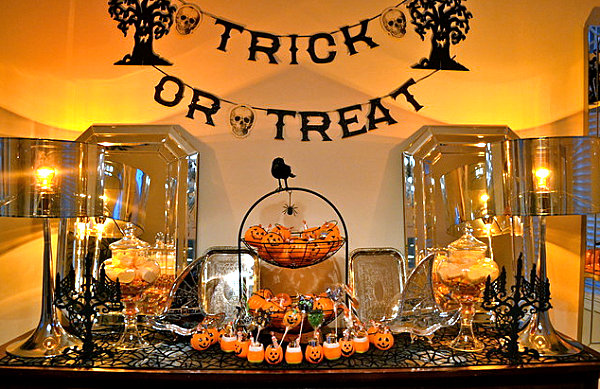 Delightful View In Gallery A Halloween Decoration Vignette