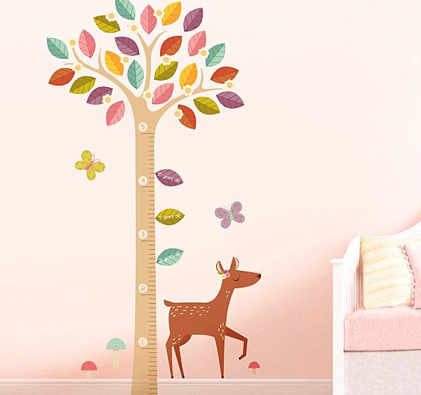 A baby deer nursery wall decal