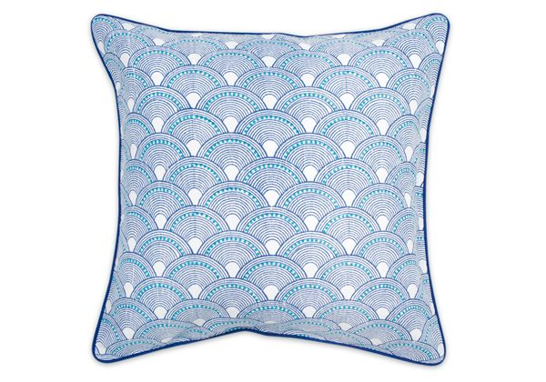 A blue scale pattern by Jonathan Adler