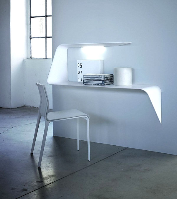 A compact floating desk