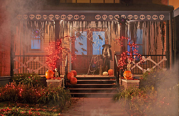 view in gallery a creepy halloween porch - Scary Halloween Decorating Ideas