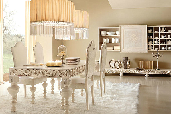 Luxury Home Decor With a Modern Feel - Cream Elegant Dining Room Wallpaper