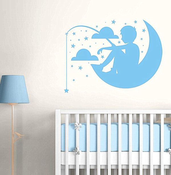 Nursery wall decals with modern flair for Baby boy wall mural
