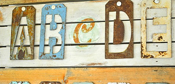 Letter Themed Metal Wall Art