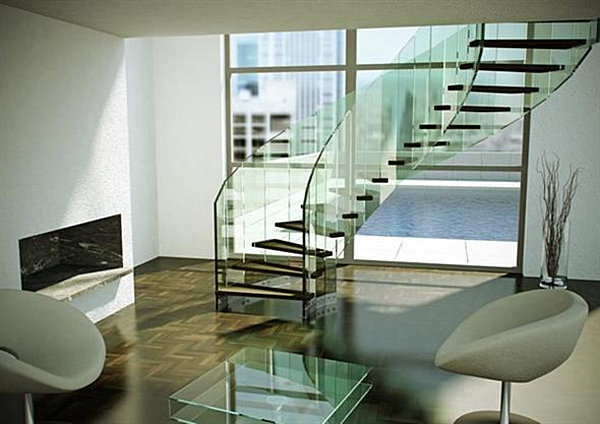 Modern Glass modern handrails adding contemporary style to your home's staircase