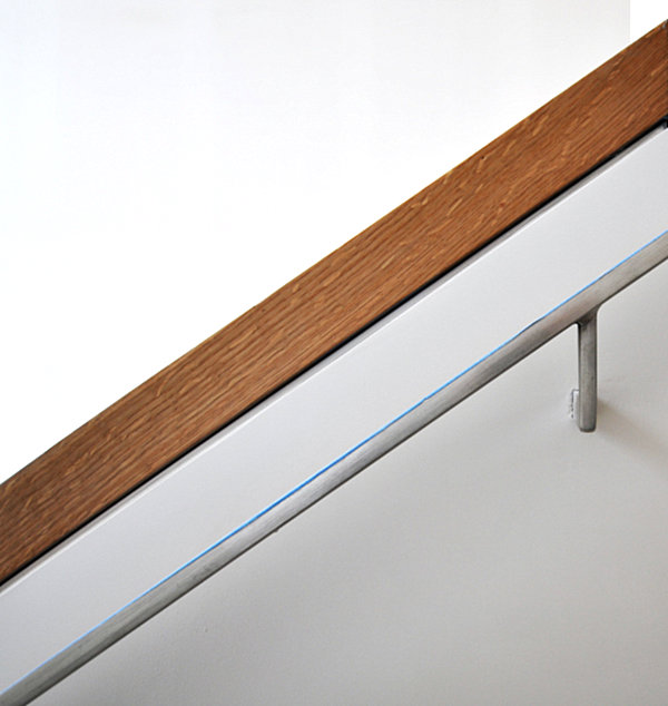 View In Gallery A Modern Stainless Steel Handrail