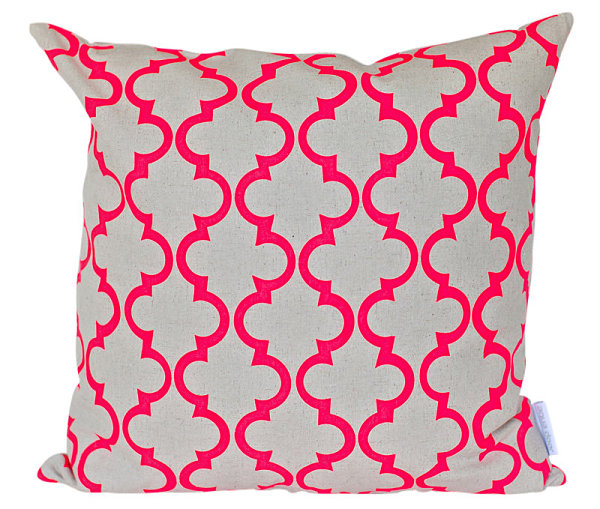 A-neon-geometric-pillow