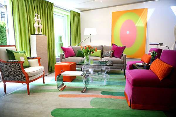 Lime Green Living Room Entrancing With Colorful Living Room Design Photos