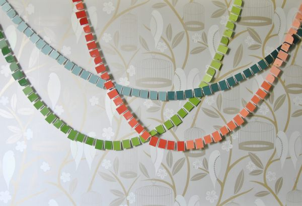 A paint chip garland How to Throw a Housewarming Party