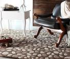 A pebble-print modern rug