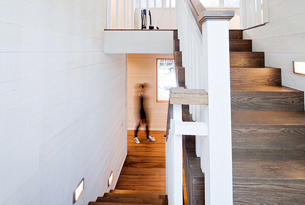 View In Gallery A Rustic Modern Staircase