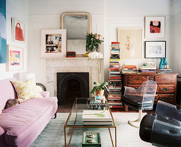 Stack Of Books In A Chic Living Room