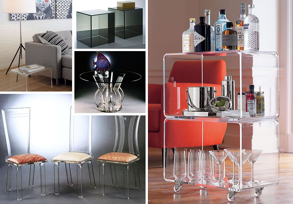 Clear acrylic furniture Folding Chairs Decoist More Acrylic Furniture Finds For Sleek Style