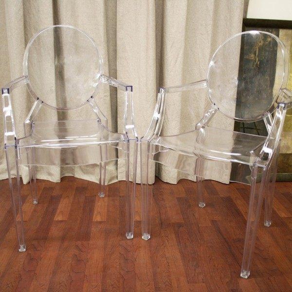 Acrylic ghost chairs