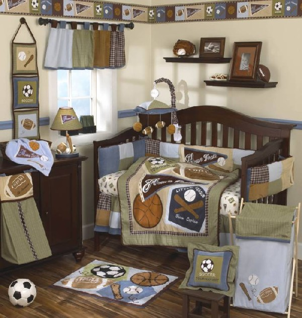 All stars sports baby crib for the littlest sports fan in your family