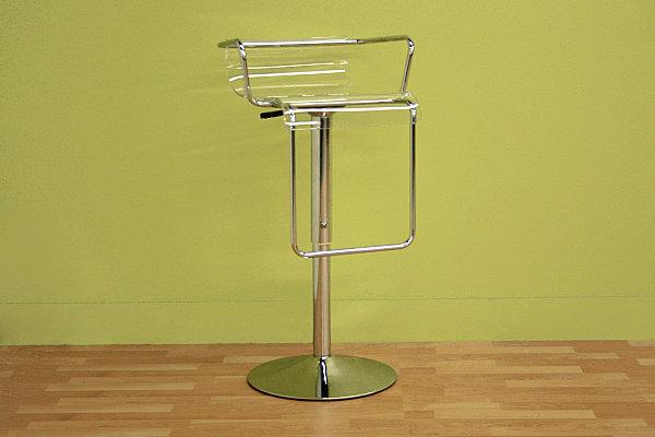 An-acrylic-and-chrome-bar-stool