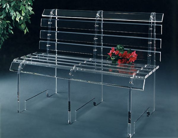 An acrylic bench More Acrylic Furniture Finds for a Sleek Style