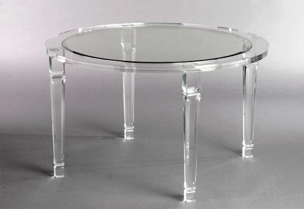 More Acrylic Furniture Finds for a Sleek Style -> Table Basse Plexiglass