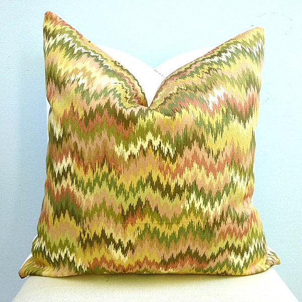 An-ikat-chevron-pillow-in-citrus-tones