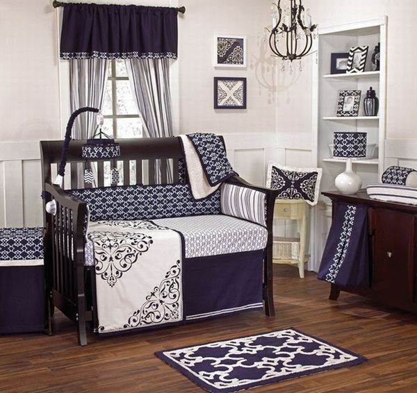 Baby boy bedding design idea with matching decor 30 Colorful and Contemporary Baby Bedding Ideas for Boys