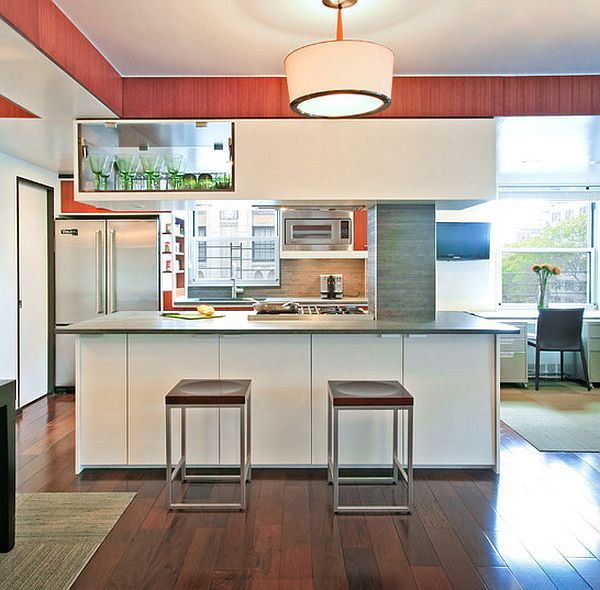 Bamboo Floor Tile In The Kitchen Elegant