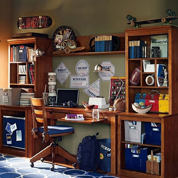 Beautifully arranged boys home office 35 contemporary teen workspace ideas to fit in perfectly with modern interiors