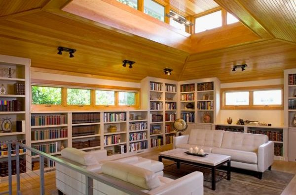 40 home library design ideas for a remarkable interior for Beautiful home lighting
