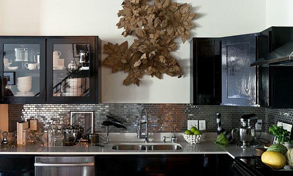 Kitchen With Fancy Backsplash Design View In Gallery Black