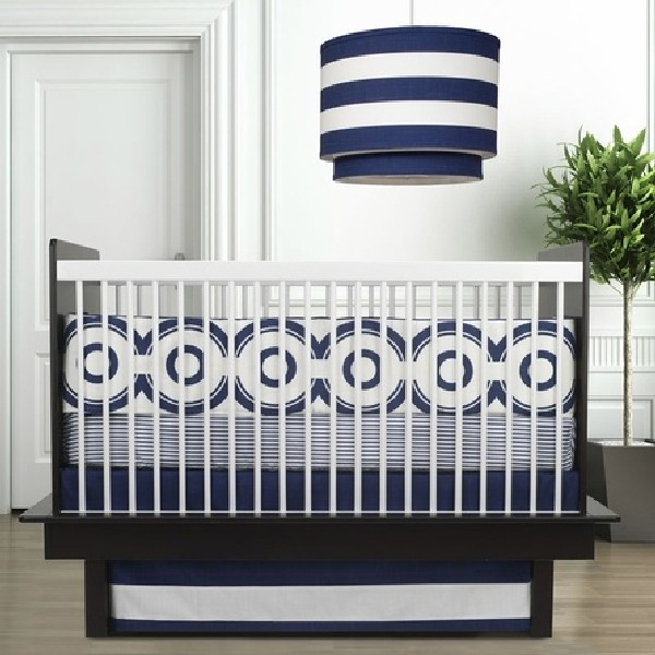 Blue and while baby bedding set for your little one 30 Colorful and Contemporary Baby Bedding Ideas for Boys