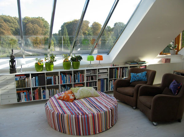 Books storage space for those who like to keep it light 40 Home Library Design Ideas For a Remarkable Interior