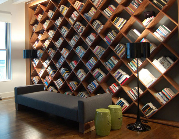 Nice View In Gallery Bookshelves With An Interesting Twist For The Modern Home  Library View In Gallery Classic ...