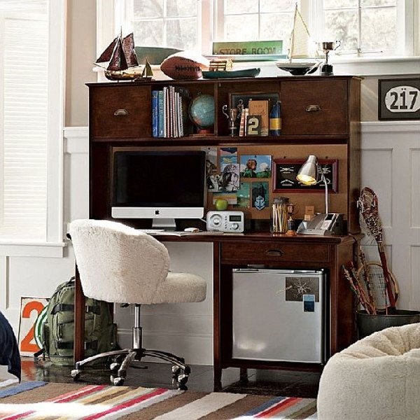 Boys work space with ample storage