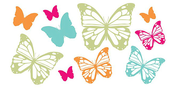 Butterfly nursery wall decals