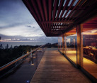 Casa La Atalaya by Alberto Kalach - night view terrace