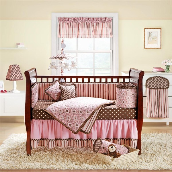 25 baby girl bedding ideas that are cute and stylish. Black Bedroom Furniture Sets. Home Design Ideas