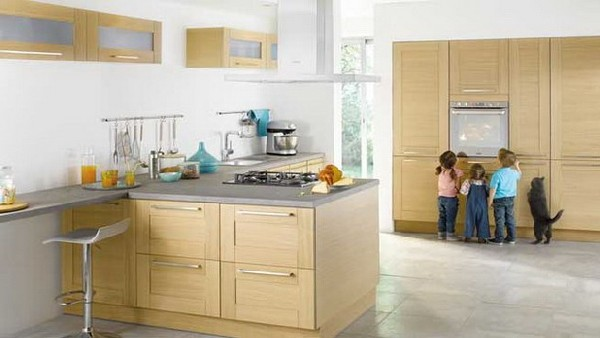 Float exquisite handcrafted kitchen collection in wood copper and - Contemporary Kitchen Collection From Conforama