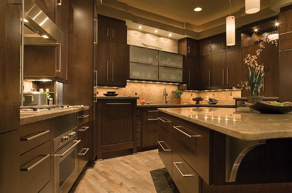 Kitchen remodel 101 stunning ideas for your kitchen design for Brown and black kitchen designs