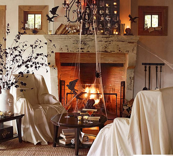 40 spooky halloween decorating ideas for your stylish home. Black Bedroom Furniture Sets. Home Design Ideas