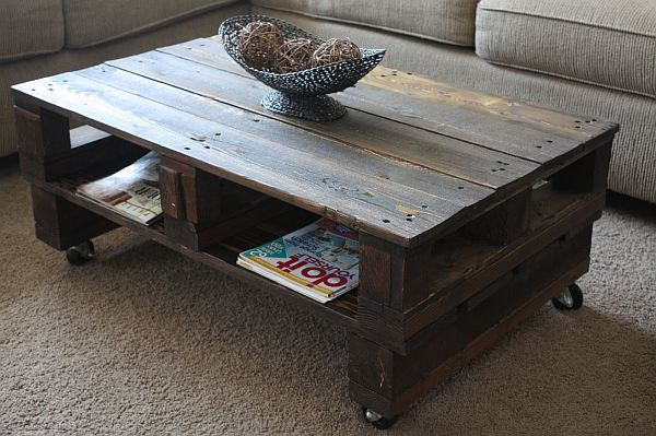 ... DIY Wooden Pallet Projects Raw coffee table View in gallery Coffee ...